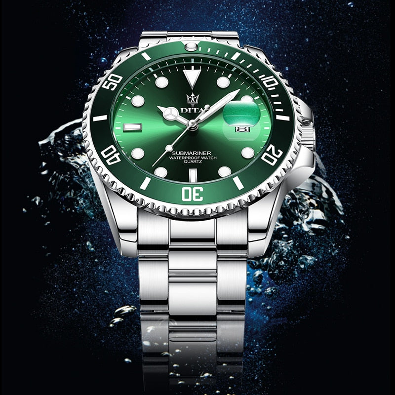 Quartz Watch Men Waterproof Sports