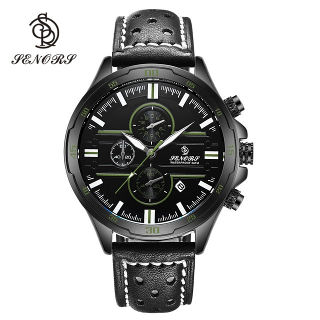 Senors Casual Sport Quartz Watches for Men