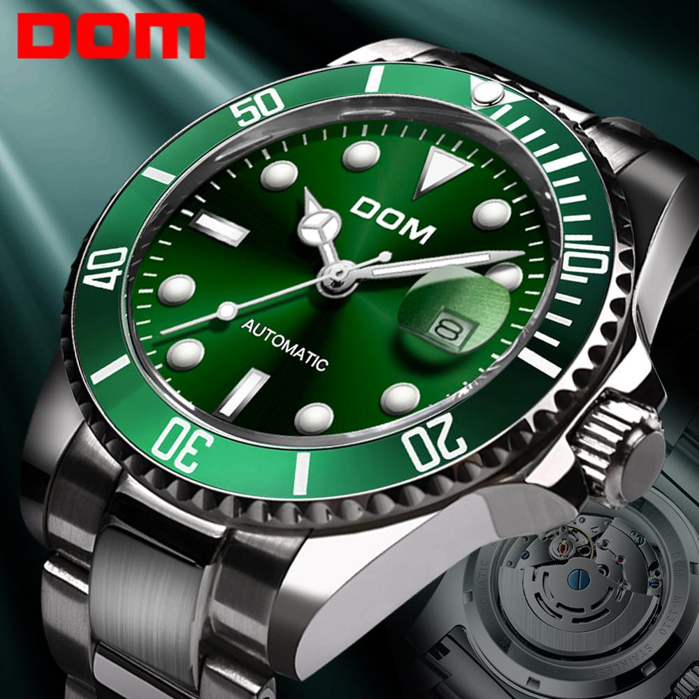 DOM Design Brand Luxury Men Watches Stainless Steel Waterproof