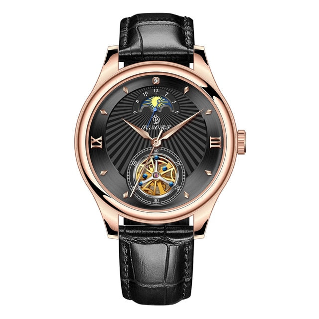Automatic Mechanical Watch Men Luxury Leather Wrist Watch
