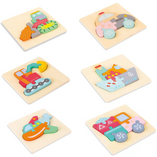 Load image into Gallery viewer, 3D Wooden puzzle for kids