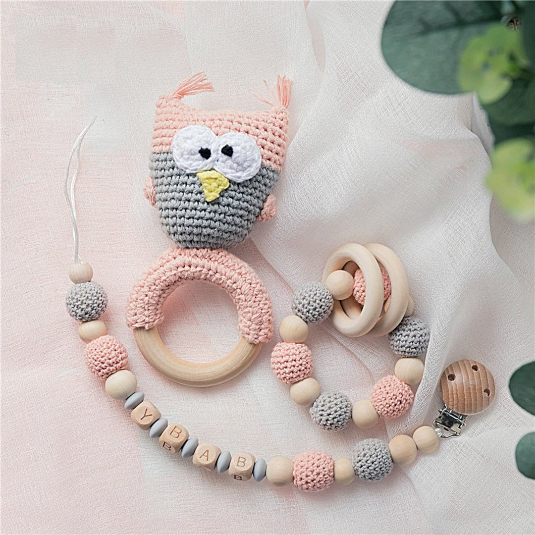 Handmade Crochet Teething set-3pcs