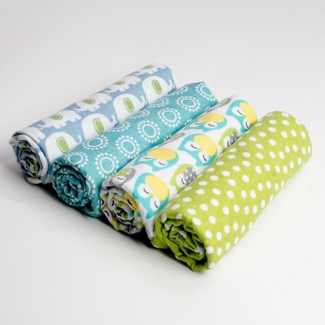 Pack of 4 Multicolor baby swaddle blanket set