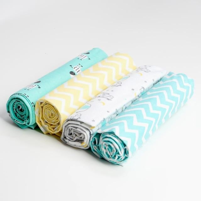 Pack of 4 zig-zag Baby Swaddle Blankets
