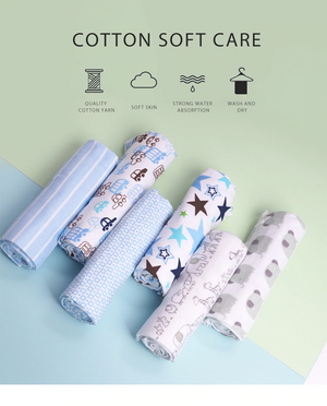 pack of 4 blue baby swaddle wrap