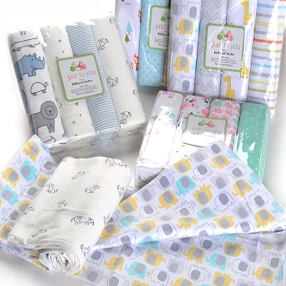 Pack of 4 Stars Swaddle Blanket Set