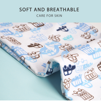 Load image into Gallery viewer, Pack of 4 Football baby swaddle blanket set