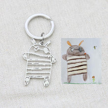 Load image into Gallery viewer, Personalized Drawing necklace and keyring