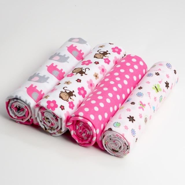 pack of 4 animal baby swaddle Blankets