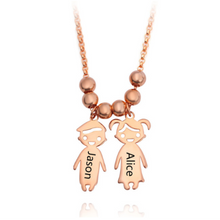 Load image into Gallery viewer, Personalized Kids Engraved Name Necklace