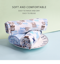 Load image into Gallery viewer, Pack of 4 Elephant baby swaddle blanket set