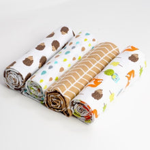 Load image into Gallery viewer, Pack of 4 Swaddle blankets