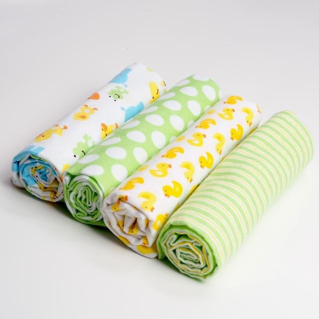 pack of 4 Duck Baby Swaddle Blanket Set