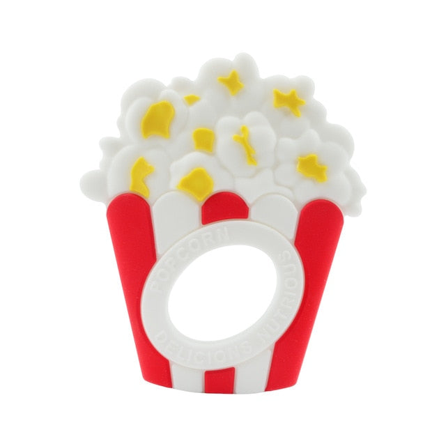popcorn shaped teethers for babies to attract them to use it