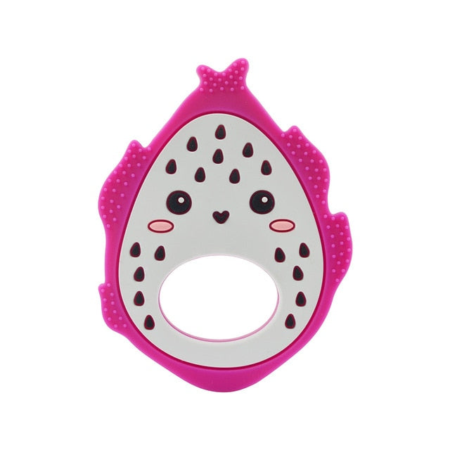 100% SAFE: Our fruit baby chewing toy is made with silicone, a soft and flexible material that will not hurt your baby's gums. At the same time, the silicone material contains no toxins that may hurt your child.
