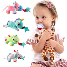 Load image into Gallery viewer, Plush toy pacifier clip