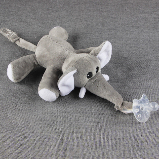 Plush toy pacifier clip