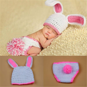 Crochet Knit Costumes for Newborn photo shoot