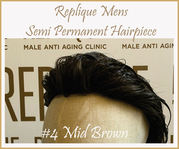 Mens Semi Permanent Hair Piece #4 Colour