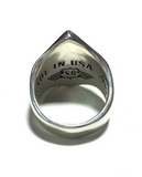 Silver 10% X Diamond Ring