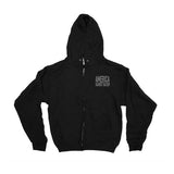 America Against Racism Black Zip Up Hoodie