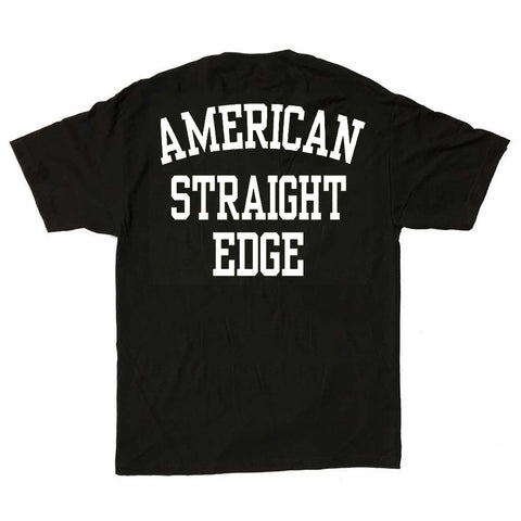 American Straight Edge Black Logo Shirt