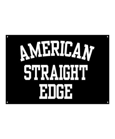 American Straight Edge Black Banner