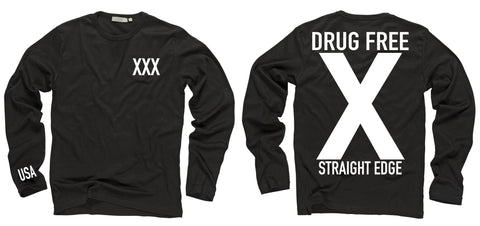 Drug Free Black Long Sleeve Shirt