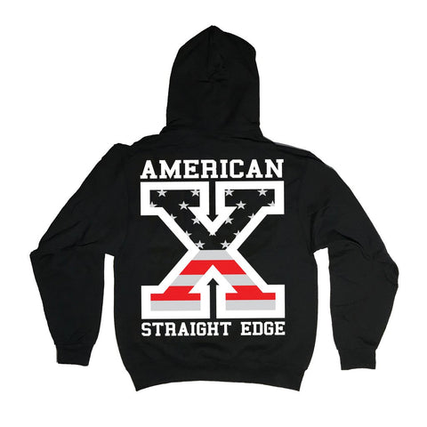 American Straight Edge Flag Hoodie (Restocked!)