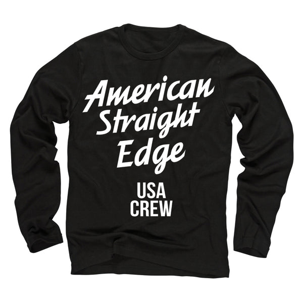 USA Crew Black Long Sleeve Shirt