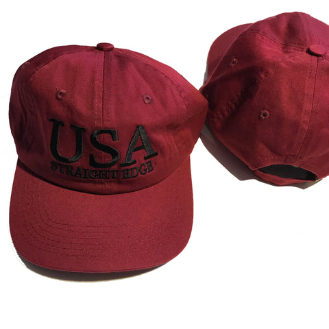 Maroon USA SXE Dad Hat ($15 Sale!)