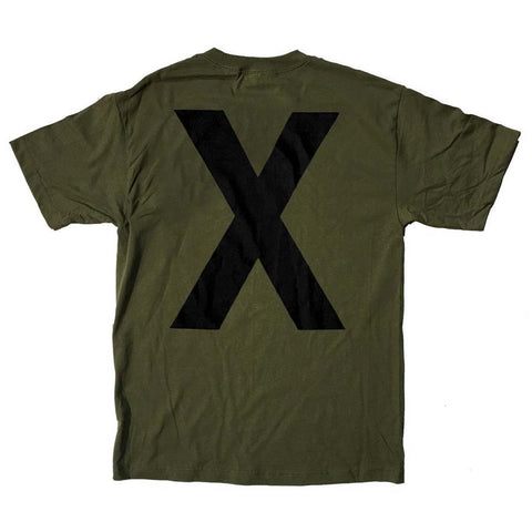 Army Green X Shirt (Restocked!)