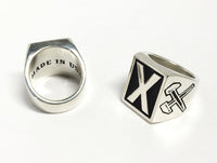 THE X HAMMER RING (SILVER) (VERY LIMITED!)