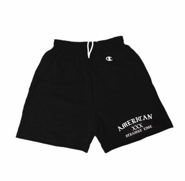 ASE XXX Black Champion Shorts (Pre-Order)