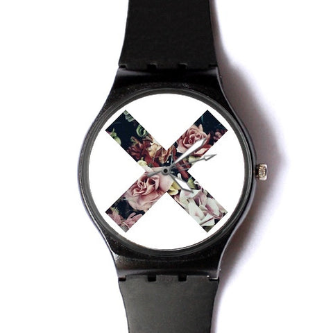 Floral X Watch ($20 Sale)