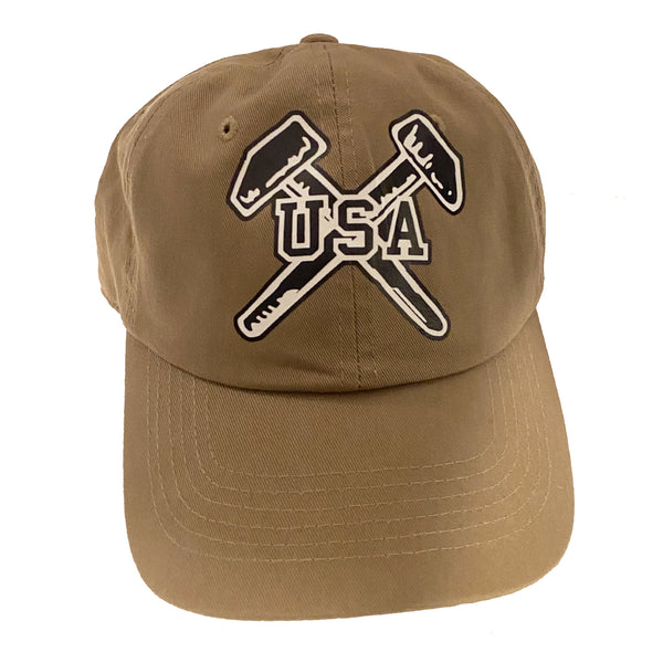 USA Hammers Tan Dad Hat (New!)