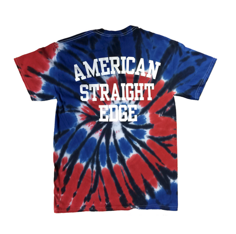 ASE Red White & Blue Tie Dye Shirt