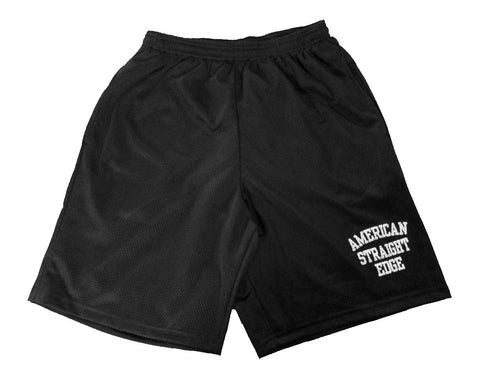 ASE Black Mesh Shorts (With Pockets!)