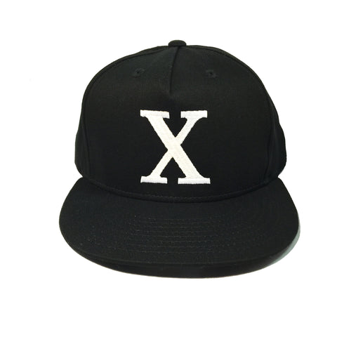 Black X Snapback Hat (Restocked!)