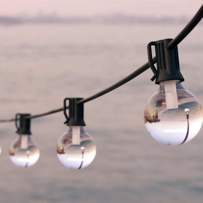 Falmouth USB Solar Festoon Lights (Set Of 25 Glass Bulbs) By The Solar Centre