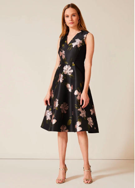 Phase Eight Sandy Floral Jacquard Dress UK Size 8