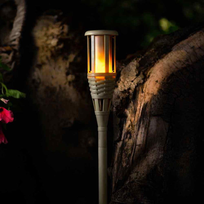 TrueFlame Solar Tiki Torch Light By The Solar Centre