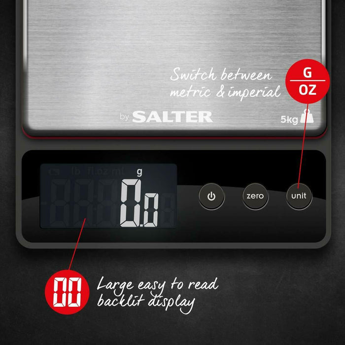 Salter 1140 5kg Heston Blumenthal Precision Electronic Digital Kitchen Scales