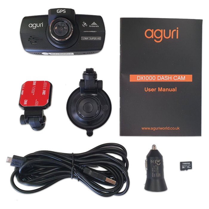 Aguri DX1000 Dash Cam & GPS Speed Trap Detector