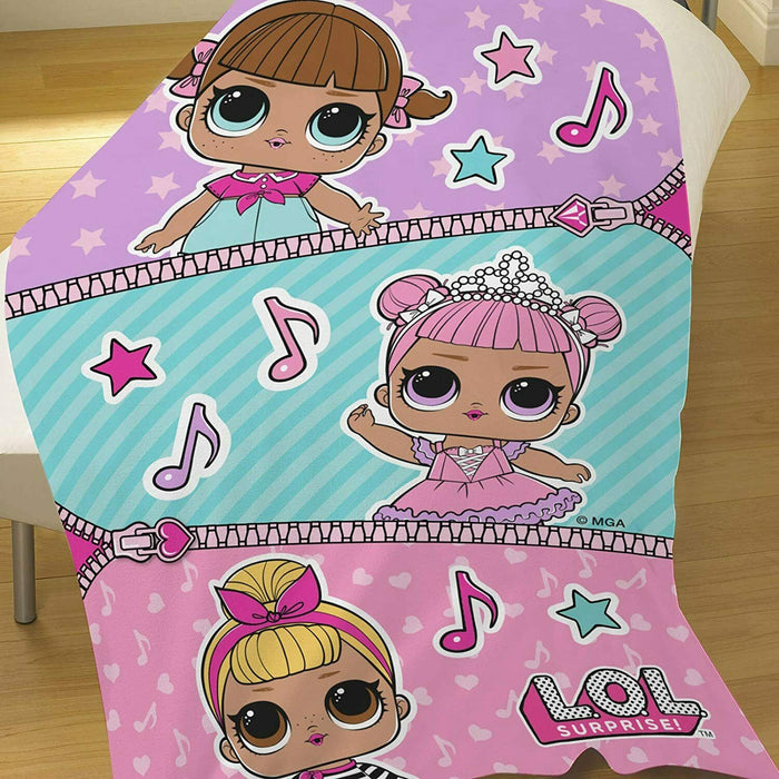 "L.O.L Surprise Fleece Blanket ""Dance Club"" Snuggle Throw Polyester"