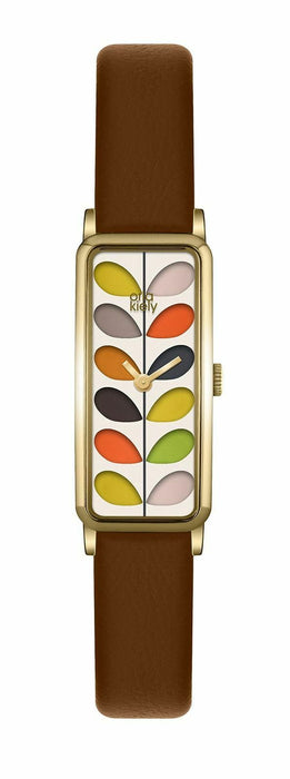 Orla Kiely Womens Analogue Classic Quartz Watch with Leather Strap OK2104