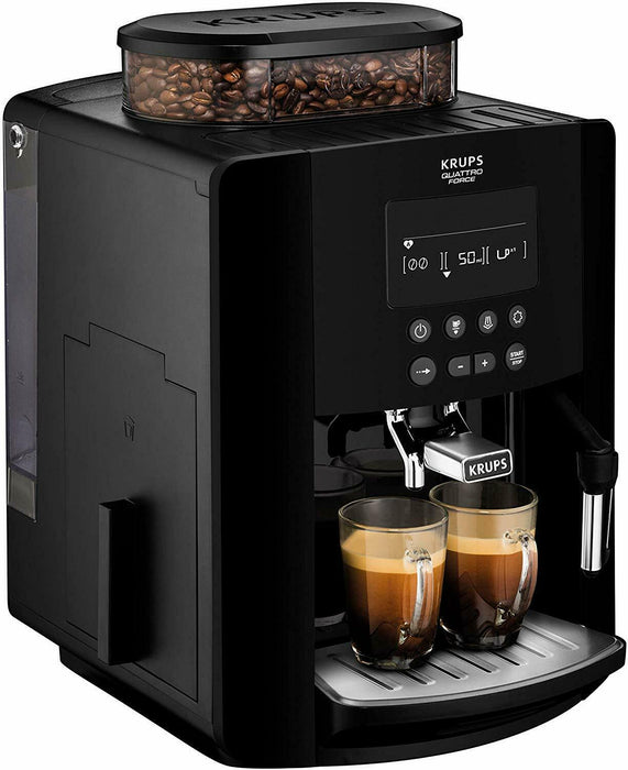 KRUPS Arabica Digital Espresso EA817040 Bean to Cup Coffee Machine - Black