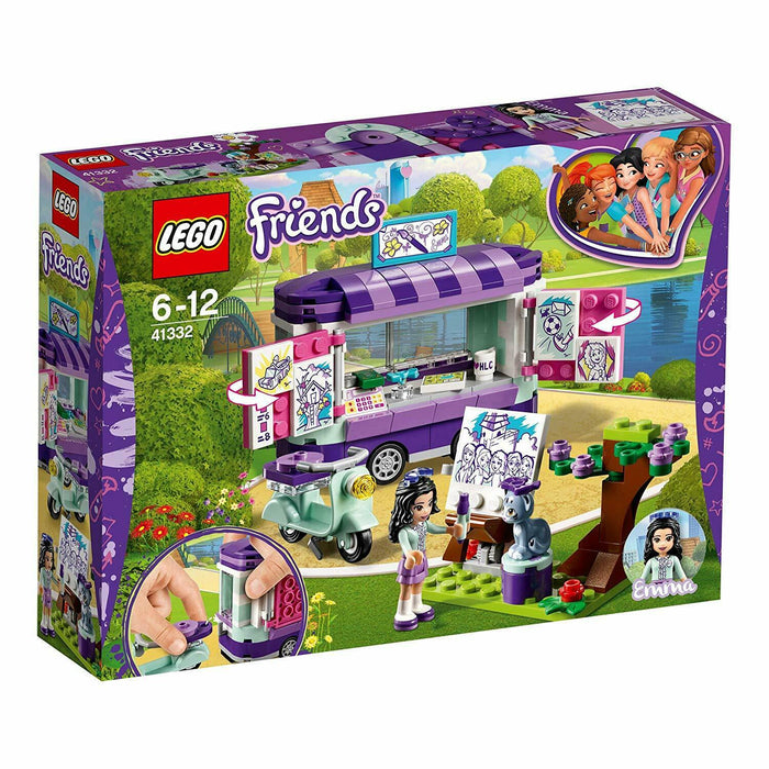 LEGO 41332 Friends Heartlake Emma's Art Stand Trailer Playset, Build and Play