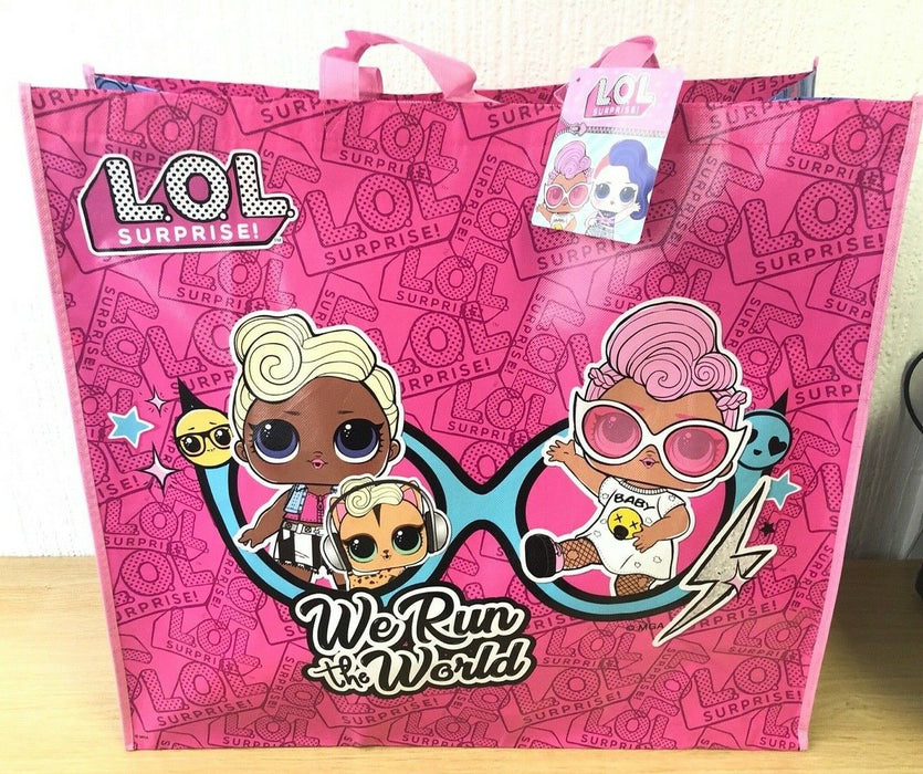 LOL Surprise Babies Run The World Large Reusable Tote Shopping Bag
