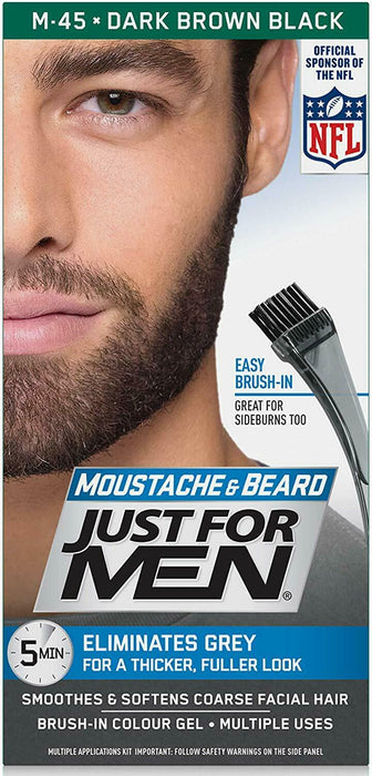 Just For Men Moustache & Beard Dark Brown M45 Discreet Packaging & Listing